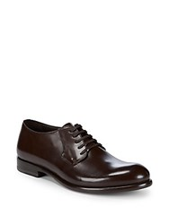 Harry's Of London Gerrard Leather Lace Up Dress Shoes Dark Brown