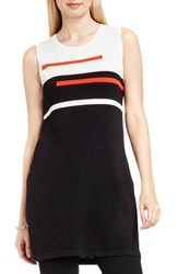 Vince Camuto Women's Colorblock Sleeveless Tunic Rich Black
