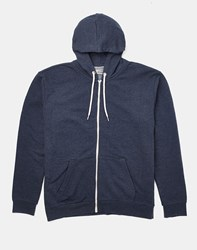 Brave Soul Bravesoul Classic Zip Through Hoodie Navy