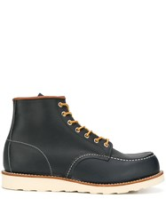 Red Wing Shoes Lace Up Ankle Boots Black
