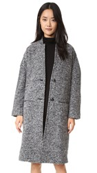 Atm Anthony Thomas Melillo Kimono Overcoat Grey Black