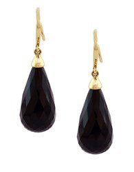 Effy Onyx And 14K Yellow Teardrop Earrings Black