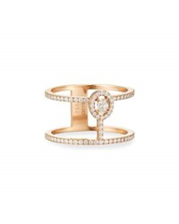 Messika Glamazone Two Band Diamond Ring In 18K Gold