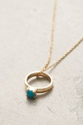 Anthropologie Birthstone Ring Choker Turquoise