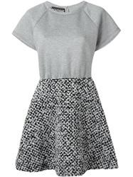 Boutique Moschino Tweed Skirt Dress Grey