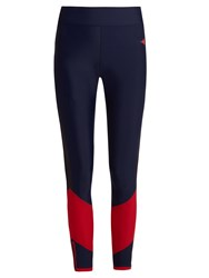 Laain Lydia Curved Panel Performance Leggings Red Multi