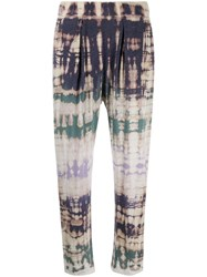Raquel Allegra Tie Dye Sweat Pants Neutrals