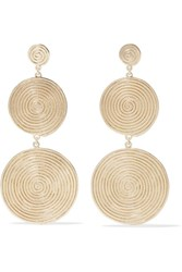 Elizabeth And James Lorelai Gold Plated Earrings One Size