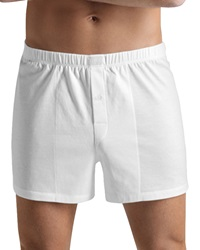 Hanro Knit Boxer White Medium