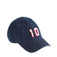 J.Crew Denim Varsity Baseball Cap Stone Red