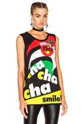 Dolce And Gabbana Cha Cha Graphic Tee In Abstract Black Abstract Black