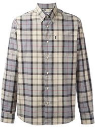 Barbour Button Down Herbert Shirt Nude Neutrals