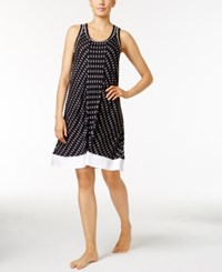 Dkny Printed Knit Nightgown A Macy's Exclusive Style Black Ikat
