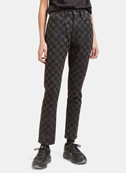 Marc Jacobs High Waisted Checked Skinny Jeans Black