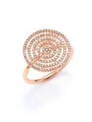 Astley Clarke Icon Aura Grey Diamond And 14K Rose Gold Ring