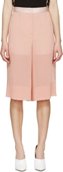 Cedric Charlier Pink Sheer Hybrid Culottes