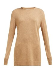 Bottega Veneta Round Neck Cashmere Sweater Camel