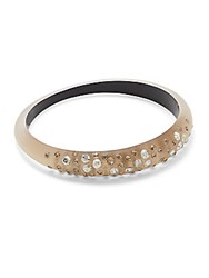 Alexis Bittar Lucite Swarovski Crystal Tapered Bangle Taupe