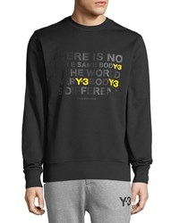 Y 3 Every Body Is Different Artwork Cotton Crewneck Sweater Black Yellow