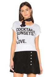 Chaser Cocktails Sunsets And Love Tee White