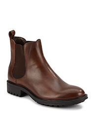 Saks Fifth Avenue Leather Chelsea Boots Brown
