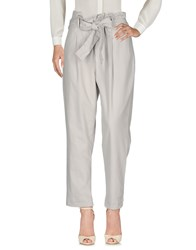 0039 Italy Casual Pants Light Grey