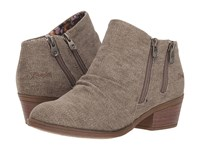 Blowfish Storz Brown Rancher Canvas Zip Boots Taupe