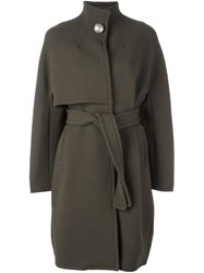 Gianluca Capannolo Funnel Neck Coat Green