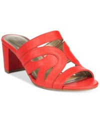 Karen Scott Daere Block Heel Sandals Only At Macy's Women's Shoes Coral