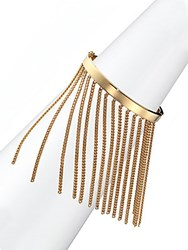 Chloe Delphine Fringe Chain Bangle Bracelet Gold