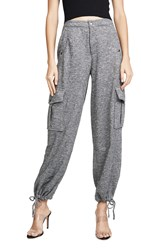 Kendall Kylie Draw String Pants Charcoal