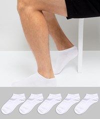 Burton Menswear Trainer Socks 5 Pack White