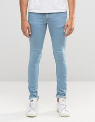 Asos Extreme Super Skinny Jeans In Bleach Wash Bleach Blue