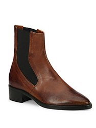 Vince Carrington Leather Chelsea Booties Camel