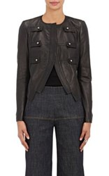 Derek Lam Women's Lambskin Military Jacket Black