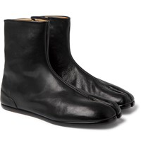 Maison Martin Margiela Tabi Split Toe Leather Boots Black
