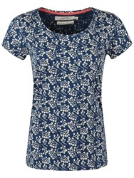 Seasalt Covington Woods Printed Top Berries Marine