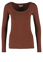 Zalando Essentials Long Sleeved Top Dark Brown