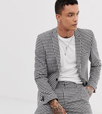 Heart And Dagger Skinny Fit Suit Jacket In Gingham Multi
