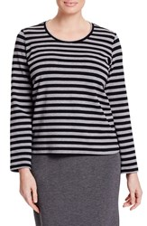 Persona By Marina Rinaldi Plus Size Women's 'Verga' Stripe Long Sleeve Tee