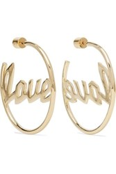Jennifer Fisher Love Gold Plated Hoop Earrings One Size