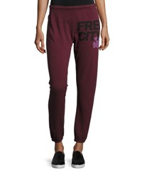 Freecity Logo Featherweight Sweatpants Rose