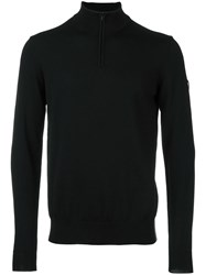 Emporio Armani Ea7 Mock Neck Jumper Black