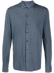 Majestic Filatures Slim Fit Shirt Blue