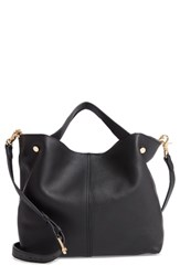 Vince Camuto Small Niki Leather Tote Black