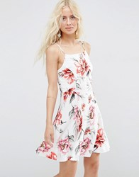 Asos Sundress In Tropical Floral Print Multi