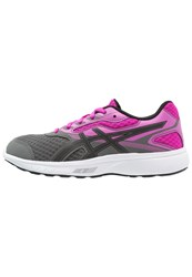 Asics Stormer Neutral Running Shoes Carbon Black Pink Glow