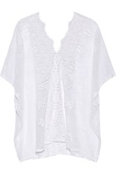 Miguelina Kara Crocheted Cotton Coverup White