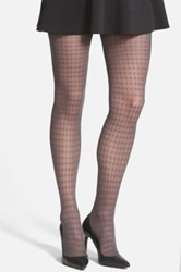 Vince Camuto Houndstooth Tights Gray
