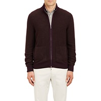 Reversible Zip Front Cardigan Purple